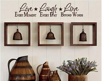 Live Laugh Love -Vinyl Lettering wall  art words graphics Home decor itswritteninvinyl