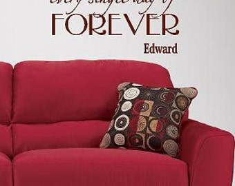 I Promise to love you forever Edward  Twilight- Vinyl decal- custom Vinyl Lettering wall words graphics Home decor itswritteninvinyl