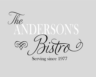 Personalized  Bistro  Kitchen Name Cook- Vinyl Lettering wall words quotes graphics decals Art Home decor itswritteninvinyl