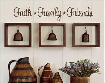 Faith Family Friends -Vinyl Lettering wall words graphics Home decor itswritteninvinyl