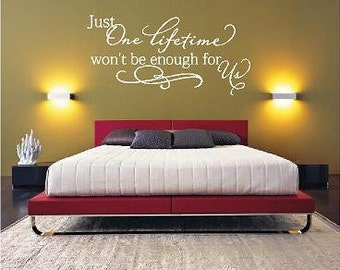 Just one lifetime... Vinyl Lettering wall words graphics Home decor itswritteninvinyl