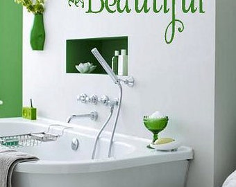 Be your own kind of Beautiful-  Vinyl Lettering wall words quotes graphics decals Art Home decor itswritteninvinyl