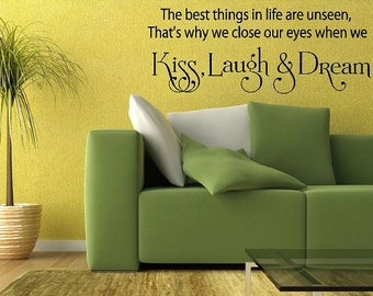 The best things in life are unseen-Vinyl Lettering wall words graphics Home decor itswritteninvinyl
