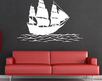 Ship on the water-Vinyl Lettering  decal wall words graphics Home decor itswritteninvinyl