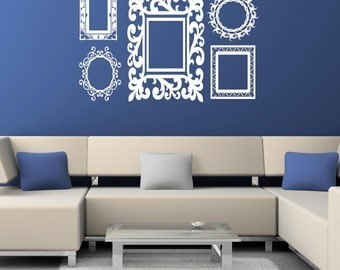 Baroque Frames decals Vinyl Lettering wall words quotes graphics decals Art Home decor itswritteninvinyl