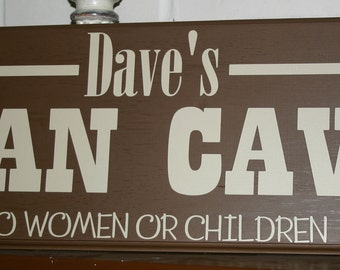 Man Cave - Custom Personalized Wood Sign-  Decal Vinyl Lettering wall words graphics Home decor itswritteninvinyl