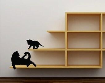 Cat & Kitten  Vinyl Lettering  animal Decal wall words graphics Home decor bedroom  itswritteninvinyl