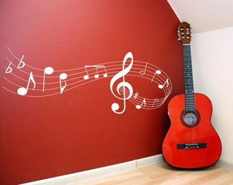 Music note scale Vinyl Lettering wall words quotes graphics decals Art Home decor itswritteninvinyl