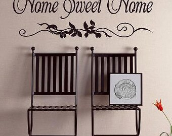 Home Sweet Home-Vinyl Lettering wall words graphics Home decor itswritteninvinyl