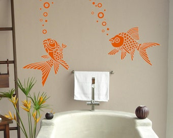 Koi fish -Vinyl Lettering wall words graphics Home decor itswritteninvinyl