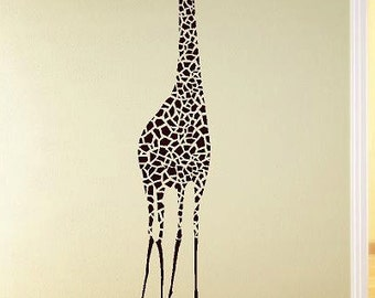 Large Giraffe Vinyl Lettering  animal Decal wall words graphics Home decor bedroom  itswritteninvinyl
