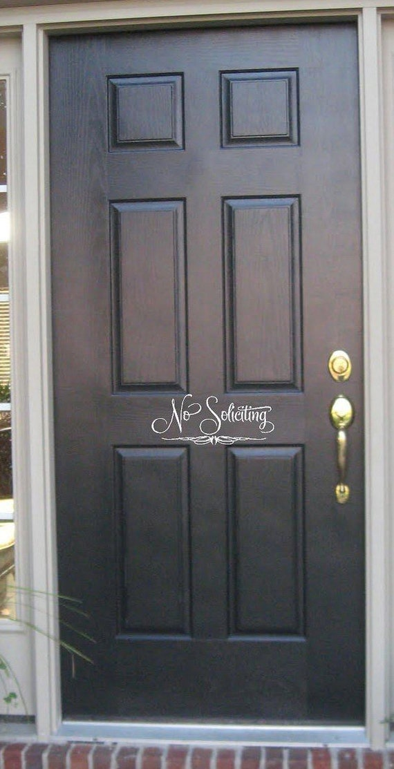 No Soliciting -Vinyl Lettering wall words graphics Home decor itswritteninvinyl