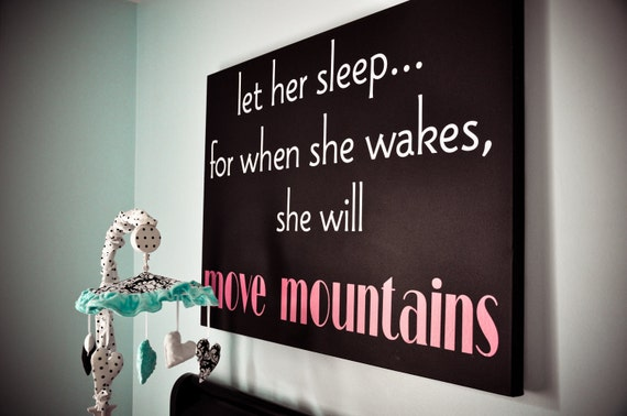 Let her sleep...- children  Vinyl Lettering wall words graphics  decals  Art Home decor itswritteninvinyl
