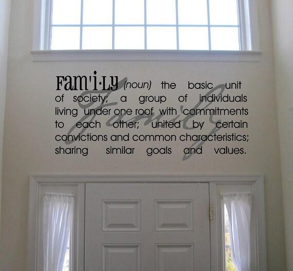 Family Definition -Vinyl Lettering wall  art words graphics Home decor itswritteninvinyl
