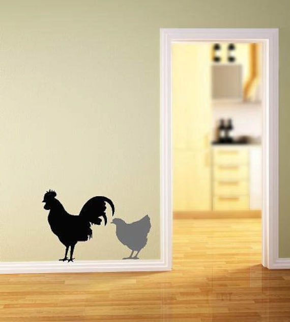 Items Similar To Hen And Rooster Vinyl Lettering Wall