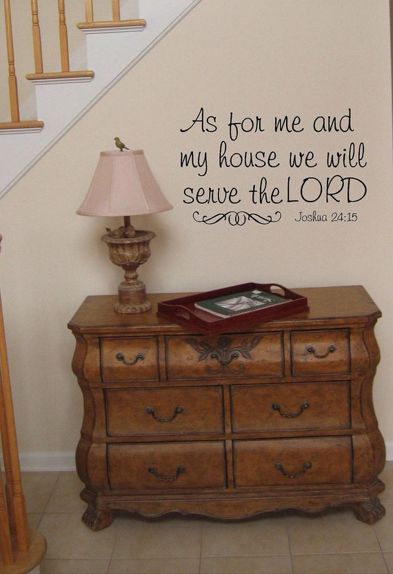 As for me an my house we will serve the Lord -faith-Vinyl Lettering wall words graphics Home decor itswritteninvinyl