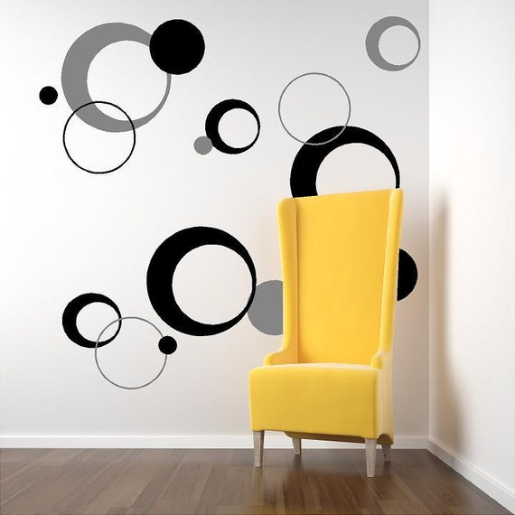 funky circles-Vinyl Lettering decal wall words graphics Home decor itswritteninvinyl