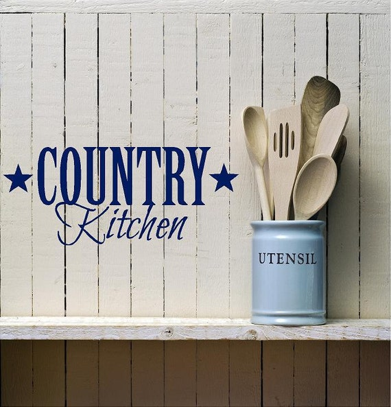 Kitchen Wall Sayings Vinyl Lettering: Country Kitchen Vinyl Decal-Vinyl Lettering Wall Words