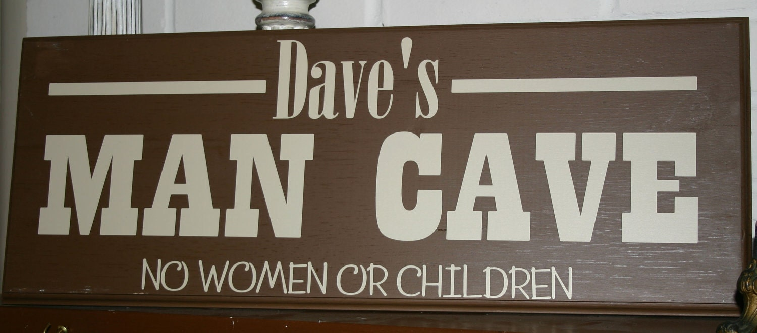 Man Cave Signs Wooden : Man cave custom personalized wood sign by itswritteninvinyl