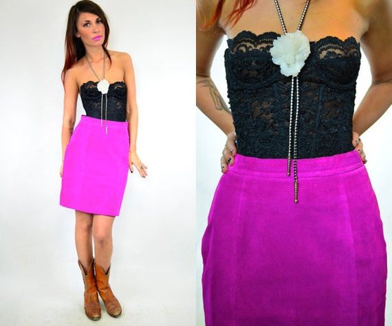 high waisted MEXICAN ROSE suede mini SKIRT, extra small-small
