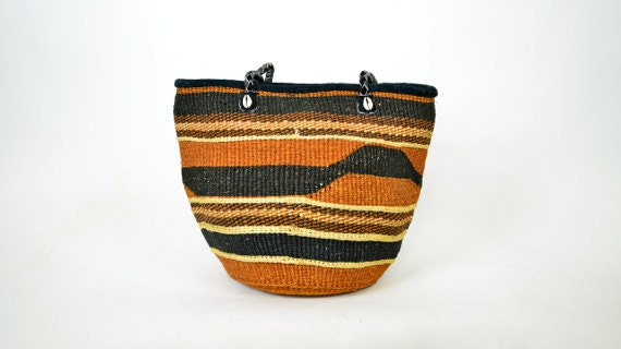 african RAFFIA basket LINED sisal ethnic PURSE