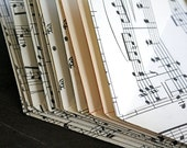 Handmade music envelopes from vintage sheet music, set of 12, 3.5 x 4.5 inches