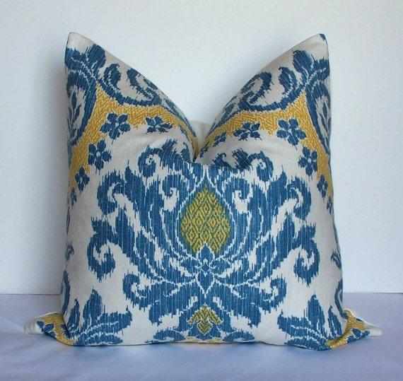 SALE-Waverly Decorative Ikat pillow cover Designer throw