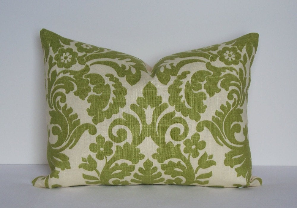Designer pillow cover Decorative Waverly linen 12x16 lumbar