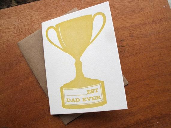 Blank-est Dad Ever Trophy Letterpress Card