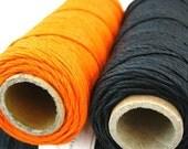 Hemp Twine, Halloween Pack Black Orange 1mm Hemp Cord