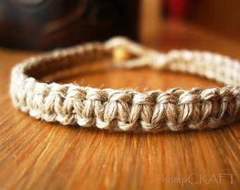 Hemp Bracelet, Hemp Jewelry, Natural Jewelry, Macrame Bracelet for Men and Women