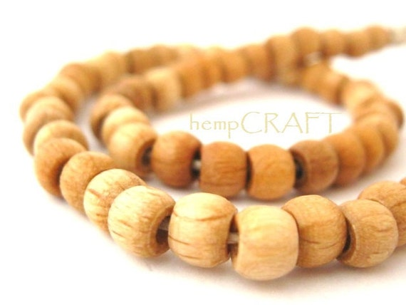 Wood Beads, Natural Light Brown Wood Crow, 5x6mm, Small - 50pc