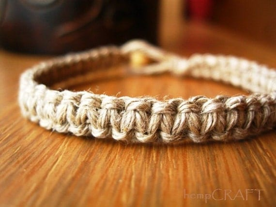 Hemp Bracelet, Hemp Jewelry, Natural Jewelry, Macrame Bracelet for Men and Women