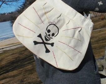 Skull and bones purse