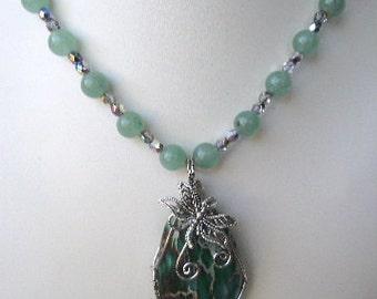 Jasper Dragonfly Necklace