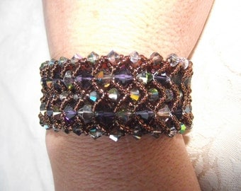 Large Beaded Crystal Bracelet