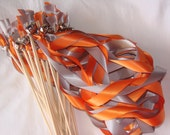 Fall Wedding Wands Set of 175 colors Sticks With Bells Outdoor Something Blue Beach Ocean Streamers Bubbles Birthday Party