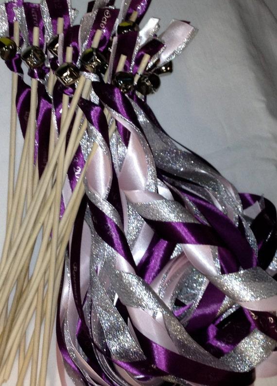100 Wedding Ribbon Wands Streamers Glitter Ribbon Princess Send off alternative ceremony reception favors bridal party bride groom guests