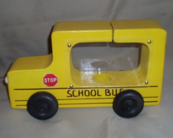 School Bus Piggy Bank