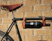 """Bicycle Wine Rack, Leather  - 1"""" frame"""