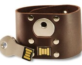 USB Leather Bracelet - 8 Gb - Brown