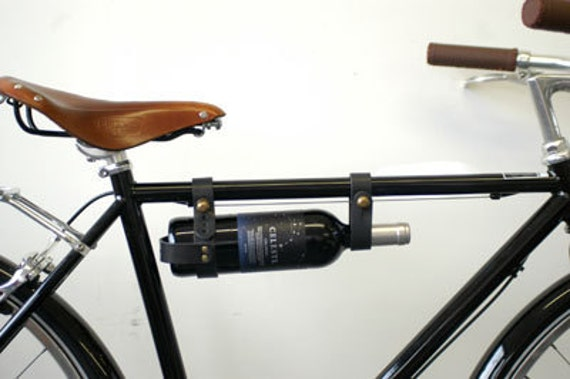 Bicycle Wine Rack - Leather, Black, Multi-Size