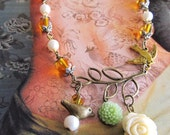 Handmade Whimsical Jewelry: Secret Garden Necklace Jewelry  (FREE SHIPPING)