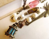 Vintage Inspired Bird Necklace  4tasteofshabbychic