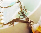 Vintage Inspired Swallow Necklace
