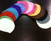 SET of SIX- Regular size Crochet Hats