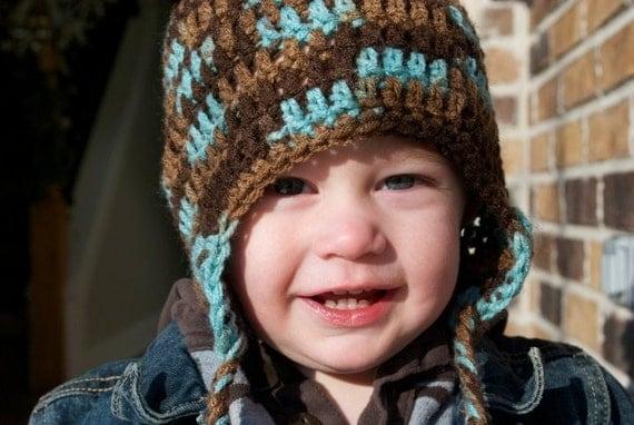 Crochet Earth and Sky Beanie