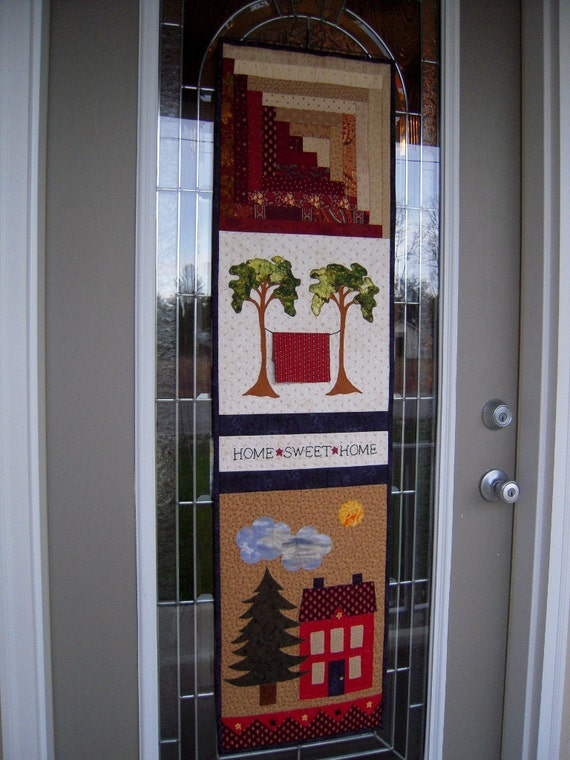 Quilted Wall Hanging Door Banner Primitive By