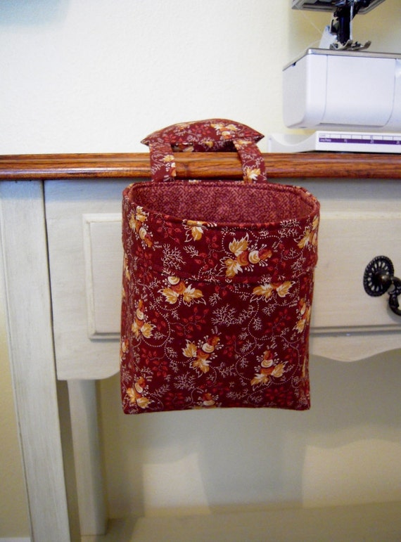 Thread Catcher, Scrap Caddy, Scrap Bag, Pincushion - Charlottesville - Prairie Petals