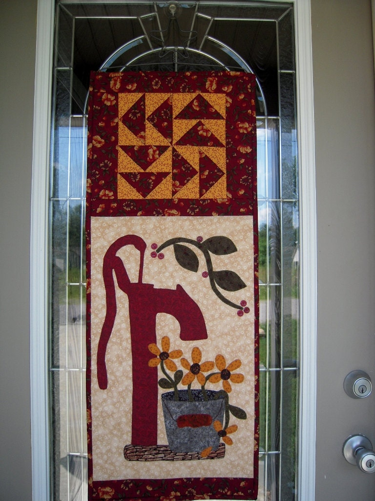 quilted wall hanging door banner quilt primitive door